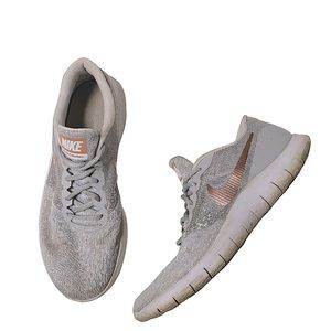 Nike Flex Contact gray & rose gold sneakers